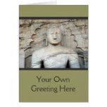 Serene Buddha Image Greeting Card