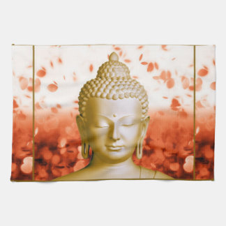 Serene Buddha kitchen towel