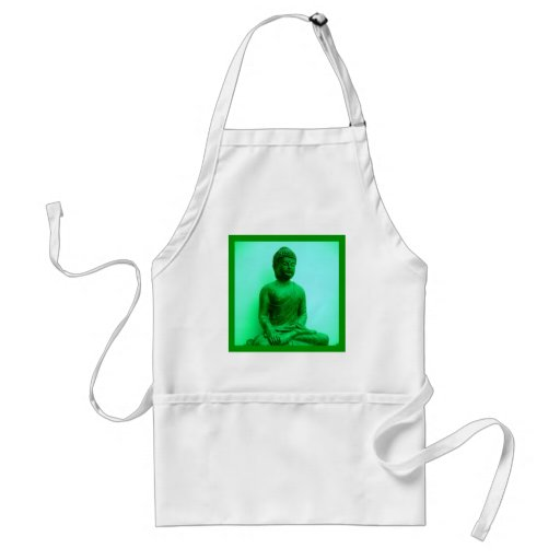 Serene Buddha meditating Aprons