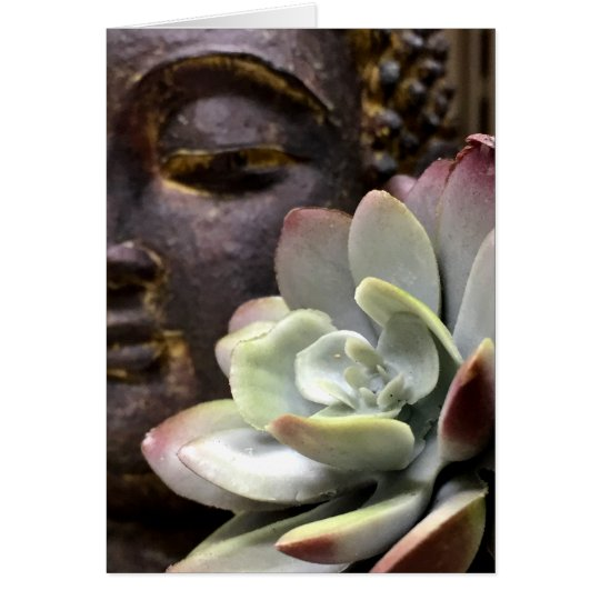 Serene Buddha with Succulent Card