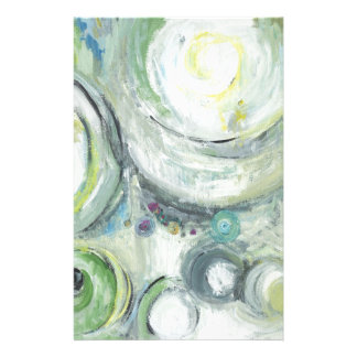 Serene Circles (abstract expressionism ) Personalized Stationery