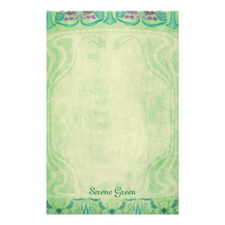 Serene Green - Art Nouveau Stationery
