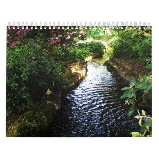 Serene Images Calendar - streams, flowers, gardens