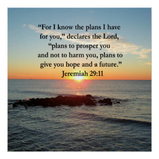 SERENE JEREMIAH 29:11 SUNRISE POSTER
