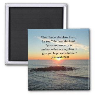 SERENE JEREMIAH 29:11 SUNRISE SQUARE MAGNET