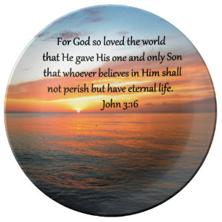 SERENE JOHN 3:16 SUNRISE PHOTO PLATE