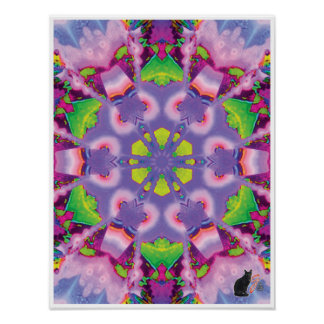 Serene Kinetic Collage Kaleidoscope Poster