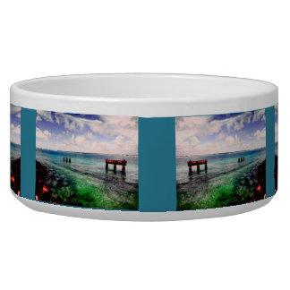 Serene Lagoon Dog Bowl