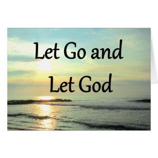 SERENE LET GO AND LET GOD OCEAN PHOTO NOTE CARD