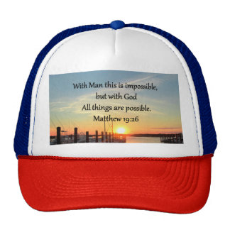 SERENE MATTHEW 19:26 SUNSET PHOTO DESIGN CAP