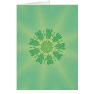Serene Mellow Green Kaleidoscope Cards