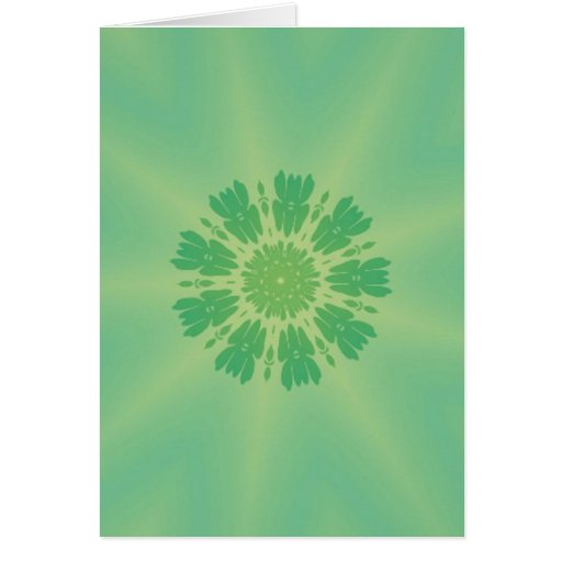Serene Mellow Green Kaleidoscope Cards