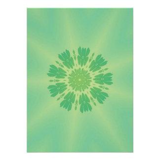 Serene Mellow Green Kaleidoscope Invitations