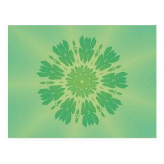 Serene Mellow Green Kaleidoscope Postcard