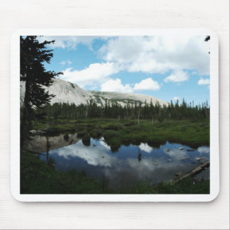 Serene Mountain Pond Mouse Pad