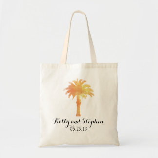 Serene Palm Tree Watercolor | Wedding Guest Bag