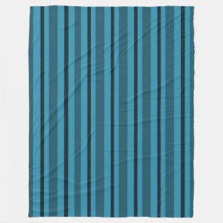 Serene-Sea-Stripe's_Blue-Fleece-S-M-L Fleece Blanket