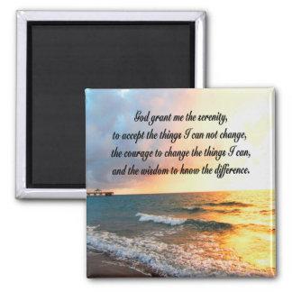 SERENE SERENITY PRAYER SUNRISE PHOTO DESIGN MAGNET