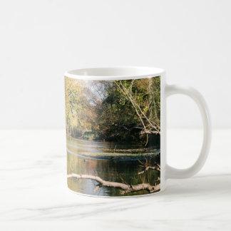Serene Stream Basic White Mug