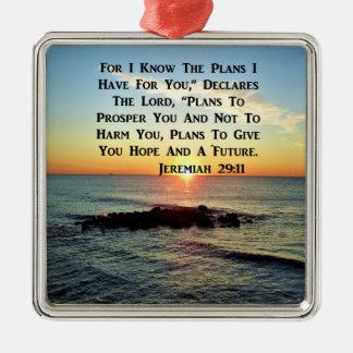 SERENE SUNRISE JEREMIAH 29:11 SCRIPTURE DESIGN CHRISTMAS ORNAMENT