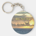 Serene Sunrise Personalised Basic Round Button Key Ring