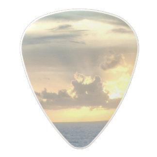 Serene Sunrise Polycarbonate Guitar Pick