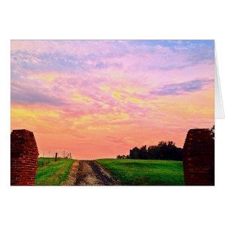 Serene Sunset in Georgia Card