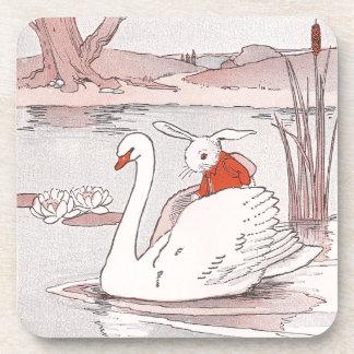 Serene Swan Gives Rabbit a Lift Coaster