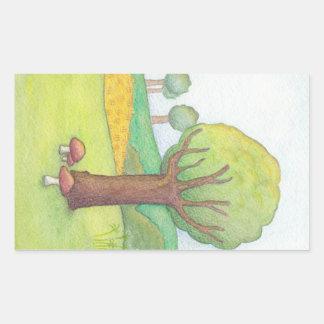 Serene Tree Scene - Sticker