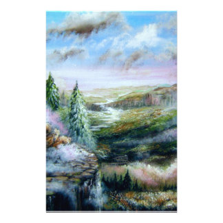 Serene Valley Personalized Stationery