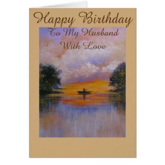 Serene View, Birthday greeting card for husband