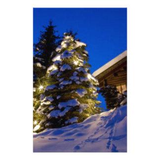 Serene Winter Scene Stationery Paper
