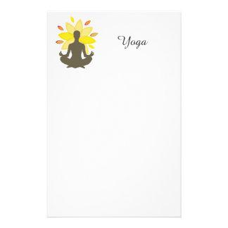 Serene Yoga Lotus Pose Personalized Stationery