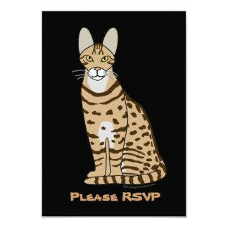 Serengeti Cat Breed Customizable 9 Cm X 13 Cm Invitation Card