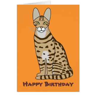 Serengeti Cat Breed Customizable Greeting Card