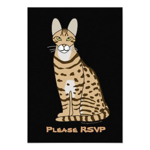 Serengeti Cat Breed Customizable Personalized Invite