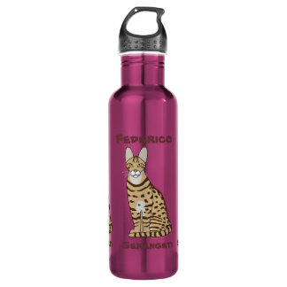 Serengeti Cat Breed Customizable 710 Ml Water Bottle
