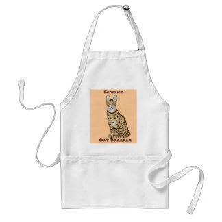 Serengeti Cat Breed Customizable Standard Apron