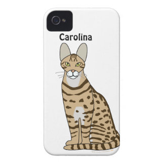 Serengeti Cat Breed Personalised iphone 4g Cover iPhone 4 Covers