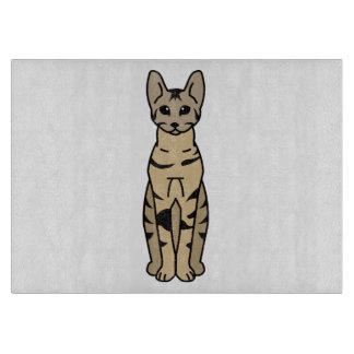 Serengeti Cat Cartoon Cutting Board