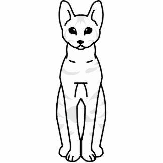 Serengeti Cat Cartoon Standing Photo Sculpture