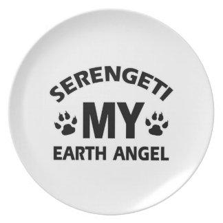 Serengeti cat design plate