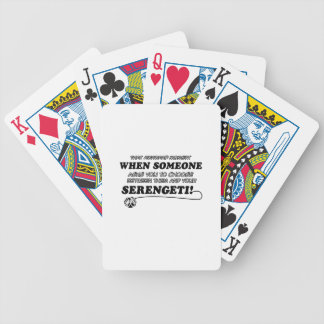 SERENGETI cat designs Card Deck