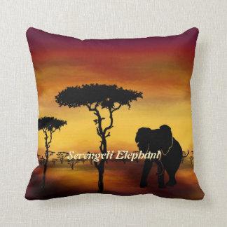Serengeti Elephant Sunset Polyester Lumbar Pillow Throw Cushions