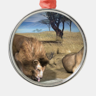 Serengeti Lions Ornament