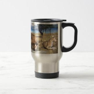 Serengeti Lions 15 Oz Stainless Steel Travel Mug