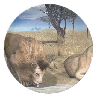 Serengeti Lions Party Plates