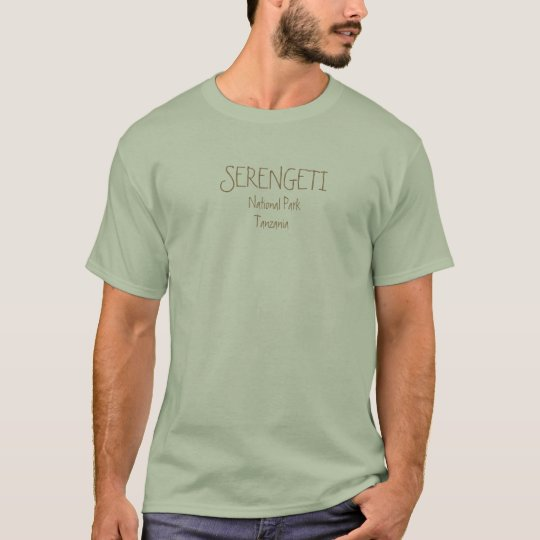 SERENGETI, NATIONAL PARK - Light Green Stone T-Shirt
