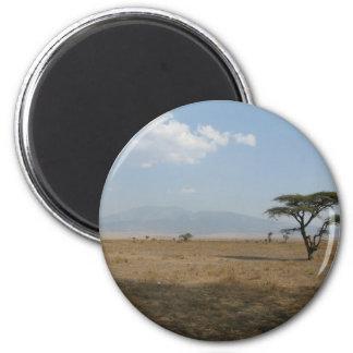 Serengeti Plains Fridge Magnet