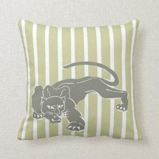 Serengeti Safari Stripe Pillow with Leopard Cushion